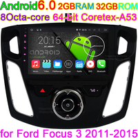 8Inch Vehicle Android Capacitive HD 1024X600 GPS Navigation Stereo Radio Car DVD Player For Ford Focus