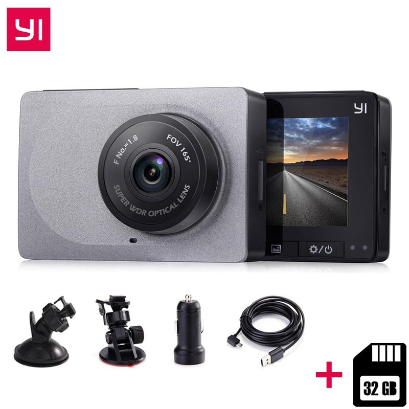 International Edition Xiaomi YI Smart Dash Camera 2 7 Inch Car DVR 165 Degree 1080P