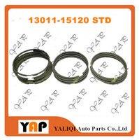 Nova 5AFE STD Piston Ring Set PARA FITTOYOTA SOLUNA VIOS COROLLA AE100 AE110 5AFE 1.5L L4 13011-15120 13011 -15100 1995-2005