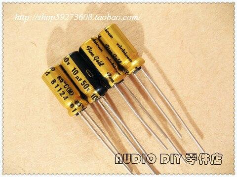 Eletrolíticos de Áudio Sale 50pcs Nichicon Ouro Fino Série fg 10uf 50v Capacitores Frete Grátis 2020 Hot 30pcs –