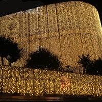 8x3 mt LED Eiszapfen Lichterketten Weihnachtsbeleuchtung Outdoor Girlanden Wasserfall Vorhang Led-leuchten Wasserdicht Hochzeit Dekoration Luces