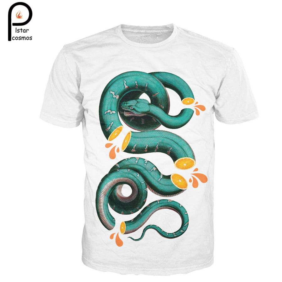 b4ee497e4513 Harajuku summer new arrival Men Women high-quality Short sleeve T-shirts  Animal Citrus Snake 3d print O-Neck casual T shirt