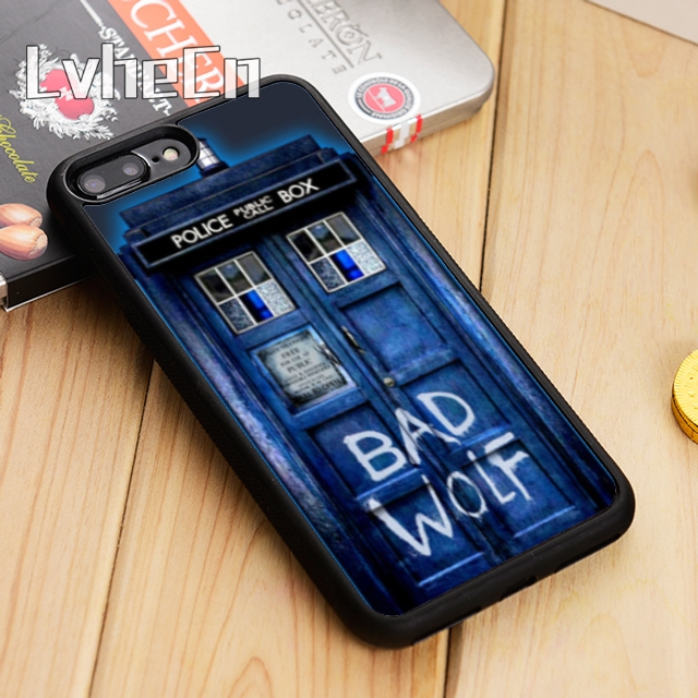 LvheCn Tardis Doctor Dr Who Police Box Bad Wolf Phone Case