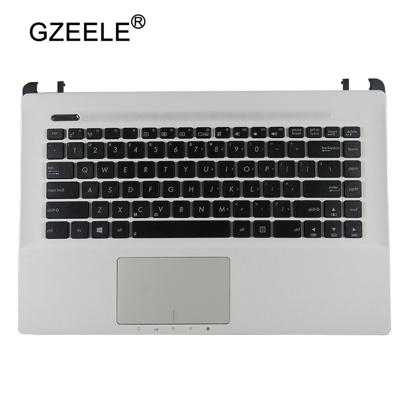 GZEELE NEW For ASUS A45V K45V A85V R400 K45VD A85 R400V English Laptop Keyboard US COVER SHELL C shell palmrest top case Frame new for asus u52f u52f bbl5 u52f bbl9 u52f bbg6 palmrest english us laptop keyboard black touchpad cover