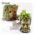 Pot de fleur Groot en résine glplomb | Mignon planteur  figurines d'action  arbre homme  modèle créatif  stylo  Pot de jardin  Pot de fleurs  décoration de la maison