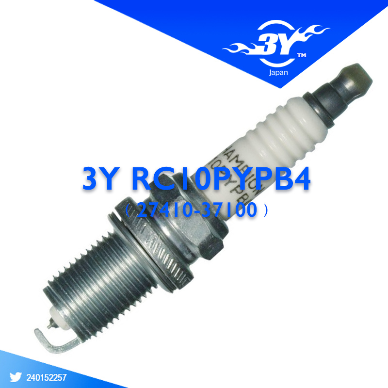 4X Genuine Champion RC10PYPB4 for Hyundai Spark Plug OEM # 27410-37100 for Hyundai Elantra Sante Fe Sonata Tiburon