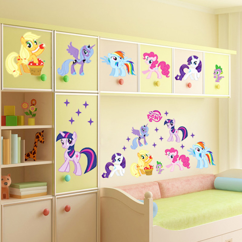 popular pony wall stickers buy cheap pony wall stickers my little pony mural wall decal shop fathead 174 for my