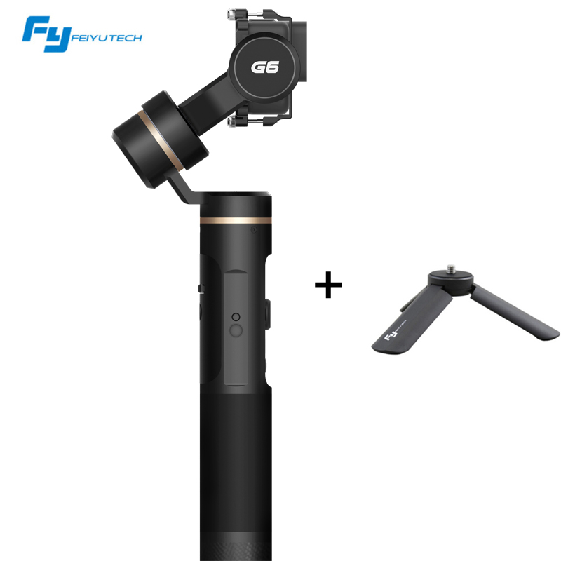 Feiyu G6 Waterproof Handheld Gimbal Wifi + Blue Tooth OLED Screen Elevation Angle with Tripod Clamp for Gopro Hero 6 5 Sony RX0 цена 2017