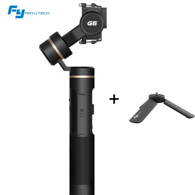цена на Feiyu G6 Waterproof Handheld Gimbal Wifi + Blue Tooth OLED Screen Elevation Angle with Tripod Clamp for Gopro Hero 6 5 Sony RX0