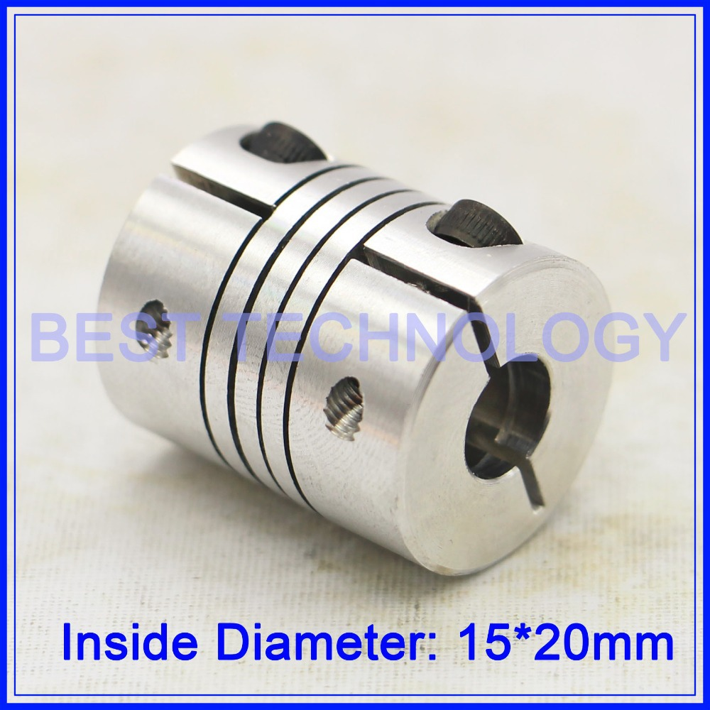 15mm to 20mm Flexible Shaft Coupler Clamp CNC Starter Shaft Coupling Connector Diameter 50mm Length 68mm