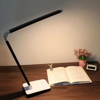 Folding Study LED Table Lamp 4 Level Sensitive Touch Dimmer Desk Lamps Portable Office Eye Care Reading 12W Rechargeable