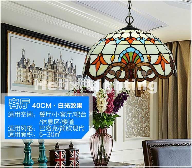 Newly European style Tiffany Pendant Lights Pendant Lamps Dining Room E27 AC for home Indoor Lighting Fixture Free Shipping