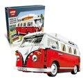 Lepin 21001 figuras clásico volkswagen t1 camper van car-styling creador de los bloques huecos modelo juguetes para niños rc coche 10220