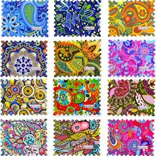 WUF 1 Sheet Fashion Colorful Full Cover DIY Watermark Sticker Nail Art Water Transfer Decals For DIY Nail Decor(China)