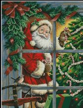 14CT 46×57 santa and gift christmas day Counted Cross Stitch Kits 14ct Embroidery Set   Kids Room Decoration Gift Free Shipping