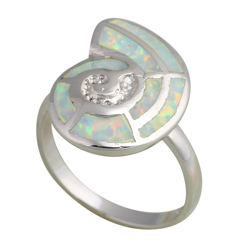 Special Anniversary design Light Green and Orange fire Opal Silver Stamped Rings fashion jewelry USA size #7 #7.5 #6.75 OR426A