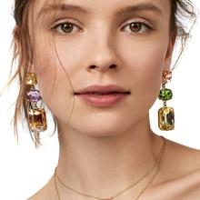 JUJIA 4 цвета ювелирные изделия горячая Распродажа хорошее качество массивные серьги с кисточками и кристаллами для вечеринки модные серьги
