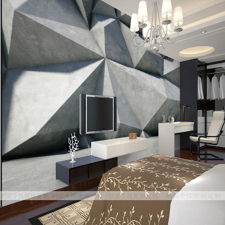 Office Wall Background Design : Custom d mural geometry living room bedroom wallpaper