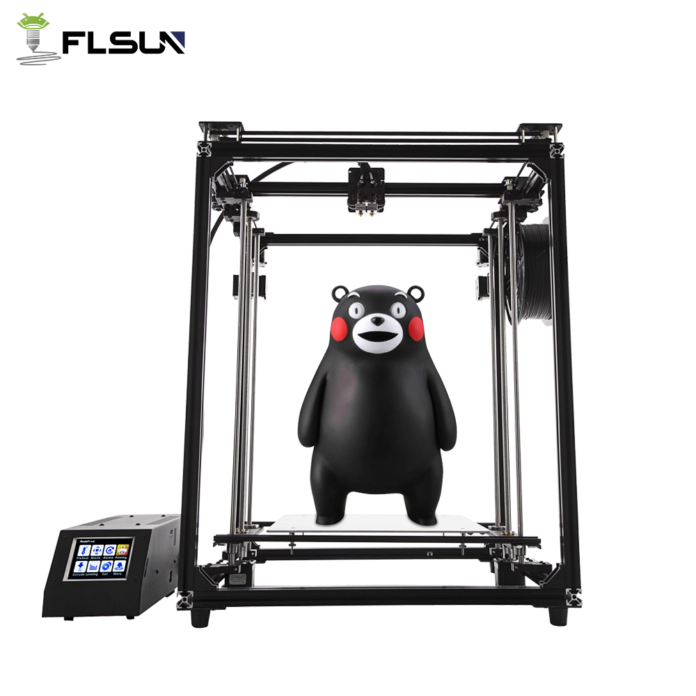 2018 Newest Flsun Cube Large Printing Area 330*330*470mm 3D Printer Dual Extruder Touch Screen Auto Leveling Filament 2018 flsun i3 3d printer diy kit dual nozzle touch screen large printing size 300 300 420mm two roll filament for gift