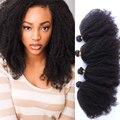 Afro Rizado Rizado mongol Rizado Pelo Virginal rizado 4 Unids cabello Natural Rizado Paquetes Armadura Del Pelo Humano Rizado Rizado Mongol pelo