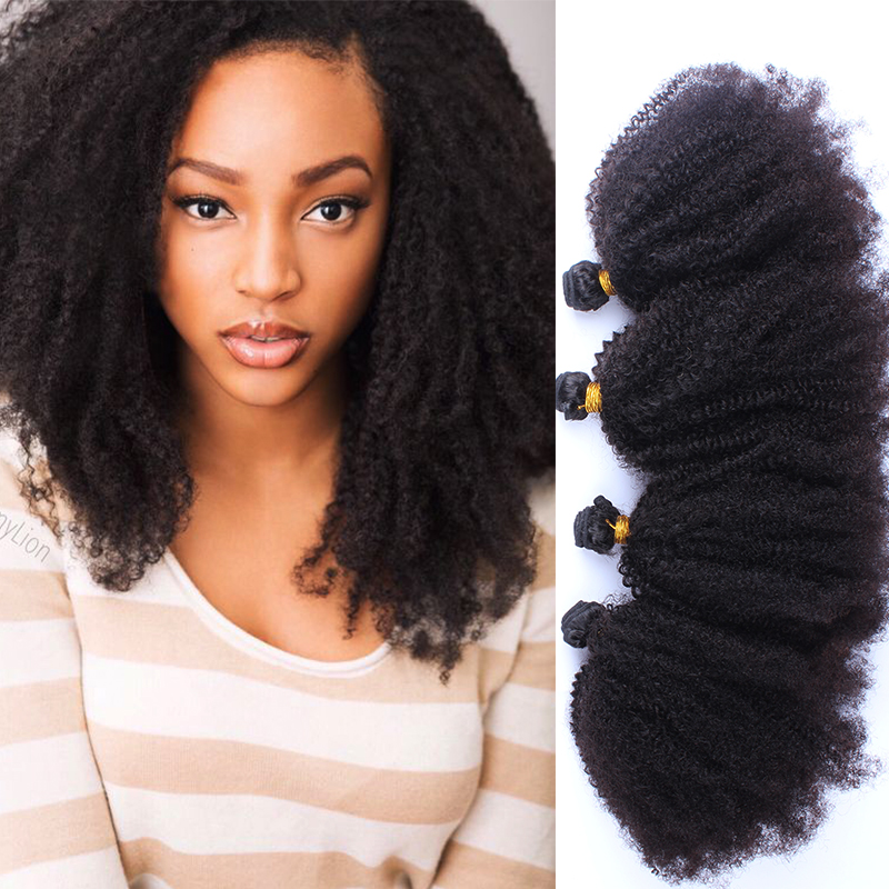 Mongolian Kinky Curly Virgin Hair 4 Pcs Afro Kinky Curly