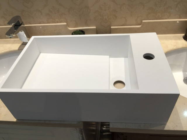 500MM WALL HUNG VANITY COUNTER TOP BASIN STONE SOLID SURFACE VESSEL SINK  RS3816 515