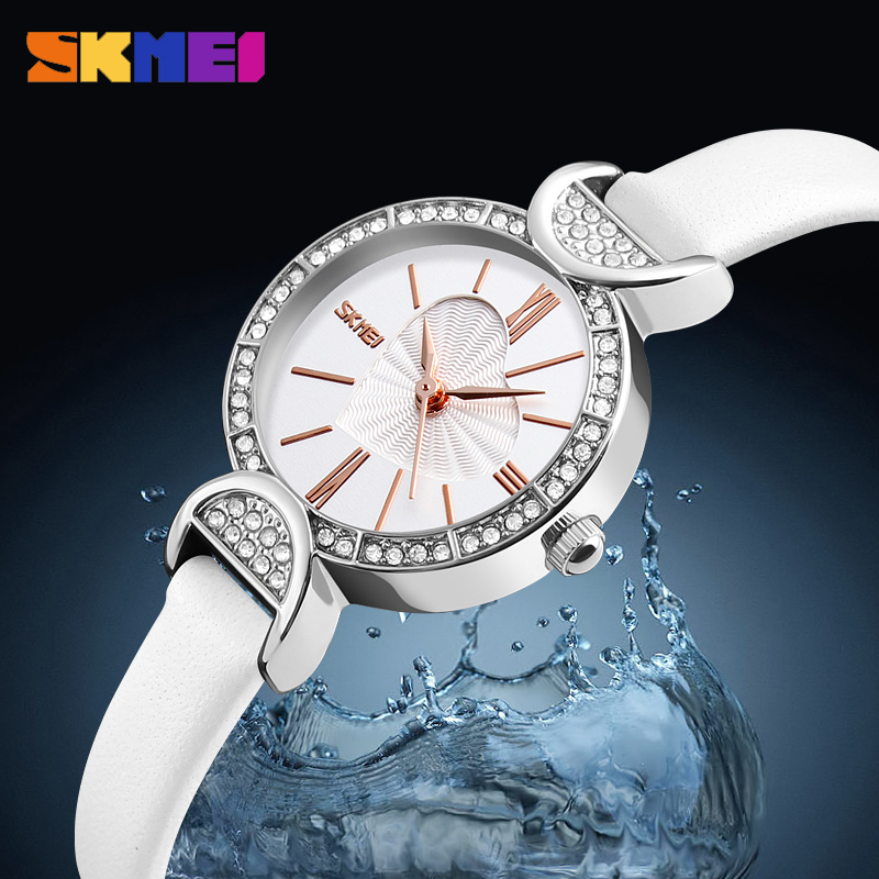 Skmei Relogio Feminino Clock Women Fashion Watches Leather Strap Quartz Ladies Watch Luxury Brand Waterproof Casual Wristwatches skmei 6911 womens automatic watch women fashion leather clock top quality famous china brand waterproof luxury military vintage