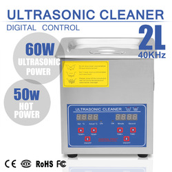 Ultrasonic Cleaner 2L Heater Timer Tank Bath Cleaning Stainless Steel Machine Industry Equipment