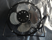 5v 2015 Summer fashion big power metal fan 6 metal inches Mini usb fan with black color 4 blades student dormitory fan