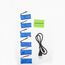 H107 3.7V 500mAh LiPo Battery with charger For Hubsan H107 h107c JXD385 YD928 U816 rc Series Wltoys