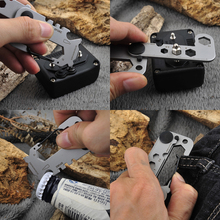 2018 New EDC Gear Multi Tool Pocket Outdoor Camping Survival Kit Wrench Opener Portable Tool Screwdriver Keychain Key Hanging