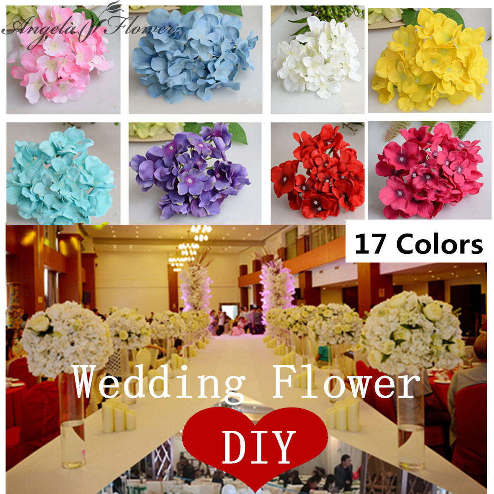 25pcs lot luxury artificial hydrangea silk flower amazing for Angela florist decoration
