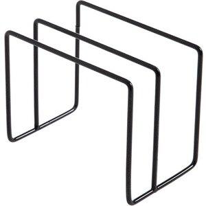 Image 4 - Paslanmaz Çelik Tava tencere kapağı Kapaklar Raf Depolama Mutfak Bulaşık Plakası Katlanır Organizatör çorba kaşığı Dinlendirir raflı stand Kaşık Tutucular