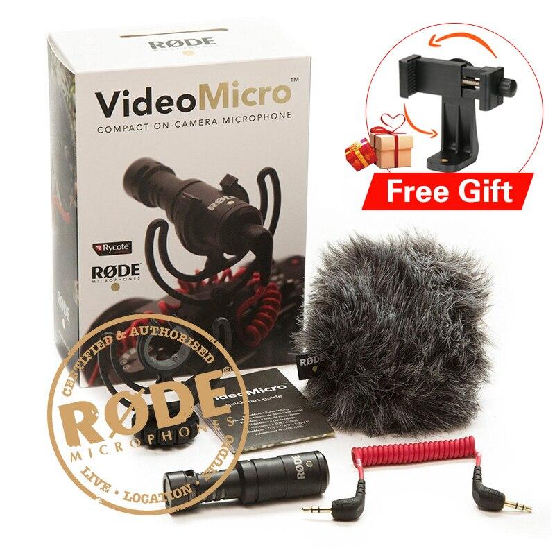 Ulanzi Rode VideoMicro Compact Camera Recording Microphone With Rycote Lyre Shock Moun for Camera DJI Osmo SmartphoneVideo