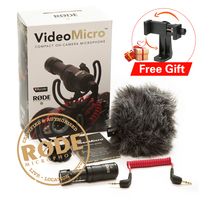 Ulanzi Rode VideoMicro On Camera Microphone Phone Mic Video Photography Recording Microphone for Canon Eos M50 Nikon Sony DSLR