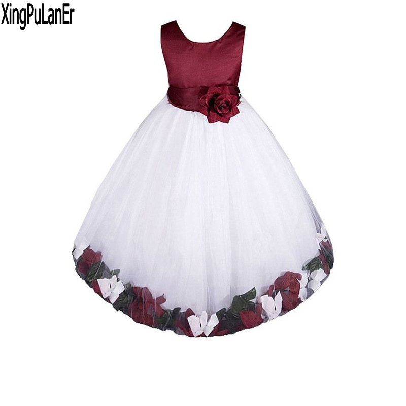 Princess Ball Gown Sleeveless Tulle   Flower     Girls     Dress   Sleeveless First Communion   Dresses   Kids Pageant   Dress   with 3D   Flowers