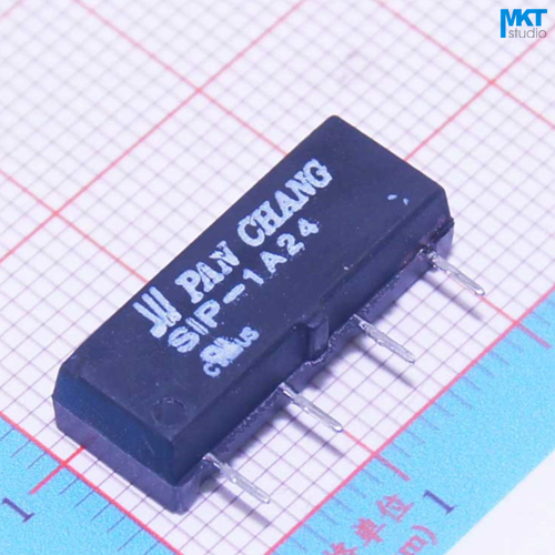 50 pcs 24 v spst mini interruptor reed rele em pcb