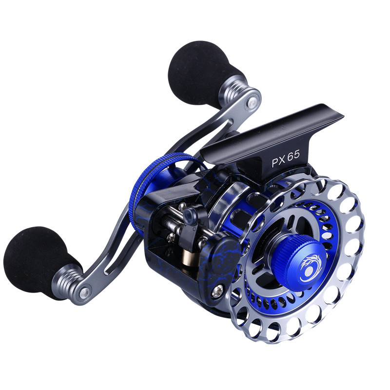 Metal Automatic Cable Fly Fishing Reel Series 65mm Ice Ratio 3.6:1 Trolling Reels 8+1BB Right Left Hand Baitcasting Raft Reel