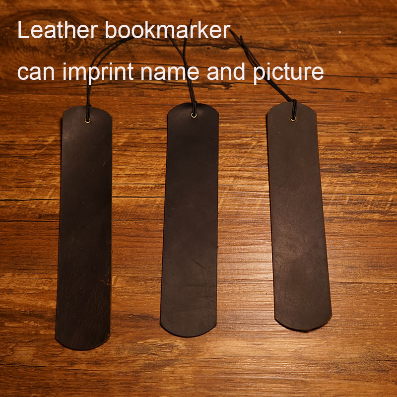 Handmade big bookmark genuine leather journal vintage bookmark travels notebook brown black color school supplies bookmarker