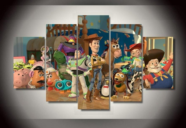 Hot cartoon movie Toy story canvas poster room decoration wall art ...
