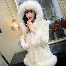 Большие размеры, женская зимняя длинная куртка с капюшоном, кожаное плотное теплое осенне-зимнее женское пальто из искусственного меха