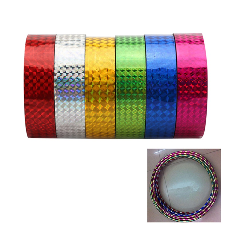 2pcs Rhythmic Gymnastics Decoration Holographic Tapes RG Prismatic Glitter Tapes High Quantity Artistic Hoops Stick