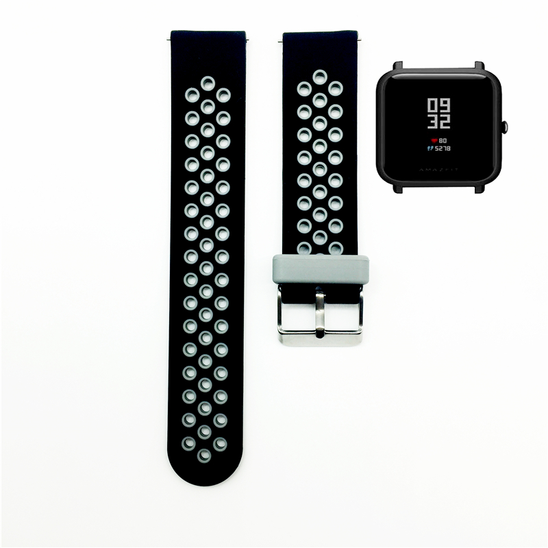Silicone Strap Watchband For Xiaomi Huami Amazfit Bip BIT PACE Lite Youth Smart Watch Replace Strap Bracelet wristbands ollivan replacement metal strap for xiaomi huami amazfit bip bit pace lite youth smart watch wearable wrist bracelet watchband