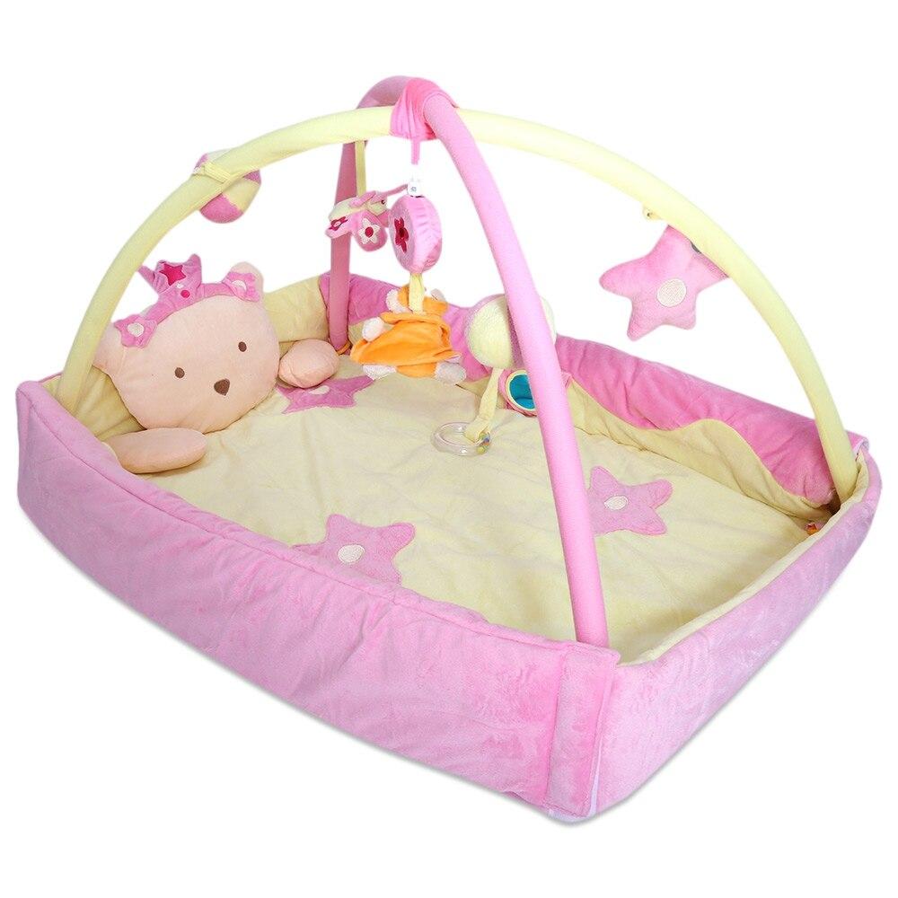 Bébé doux Musical coloré tapis de jeu Prince multifonctionnel pliant couverture de gymnastique avec cadre hochet ramper jouet pour les enfants