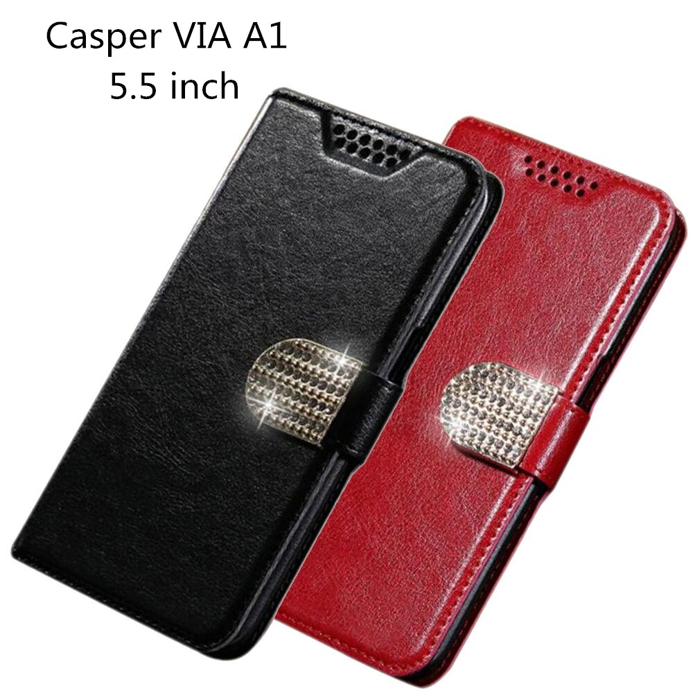 For Casper VIA A1 Case Luxury PU Leather Back Cover Case For Casper VIA A1 Case Flip Protective Phone Cases image
