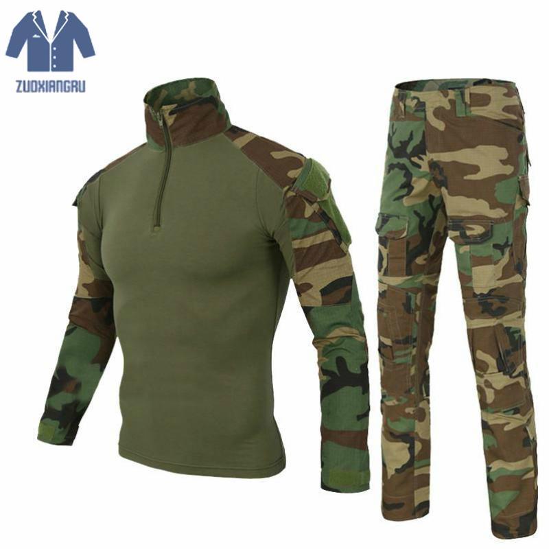 2 Chaquetas Ejército 8 Larga Conjunto Camuflaje 5 Multicam Uniforme 3 De Militar Zuoxiangru 4 Táctico Del Traje Manga 6 Rana 1 7 dZnAgInqxw