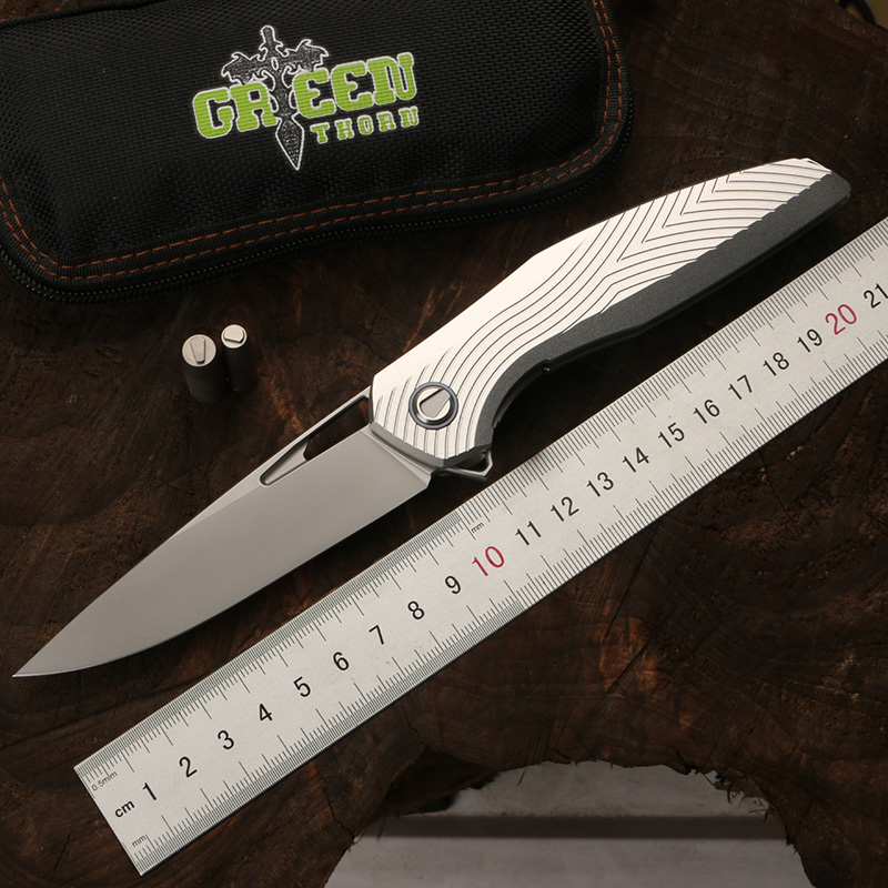 Green thorn F111 3D folding folding knife D2 blade aviation aluminum alloy handle camping outdoor practical