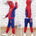 Nuevo Spiderman Bebé Boys Que Arropa Algodón Traje de Deporte Para Niños Ropa Primavera Hombre Araña Disfraces Cosplay Ropa Fijada