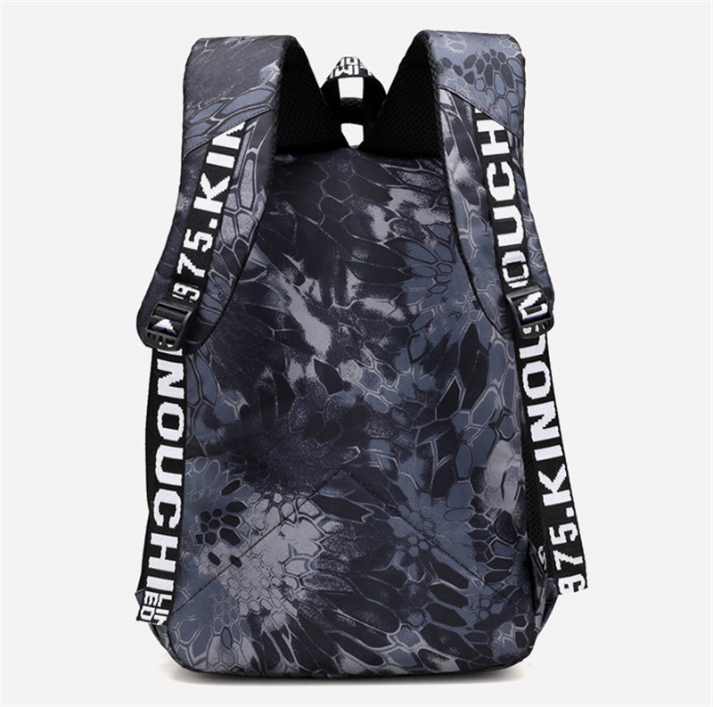 RUIPAI Men s Shoulder Bag Backpack Pack Junior High School Students College Wind Large Capacity Practical Camouflage package