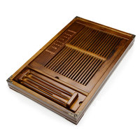 XMT HOME Kung Fu tea set drawer type drain tea tray solid wood storage wooden serving tray tea set